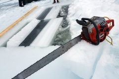 Chandler Lake Camps Traditional Maine Ice Cutting