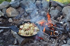 maine-sporting-camp-food-chandler-lake-camps-fireside-meal