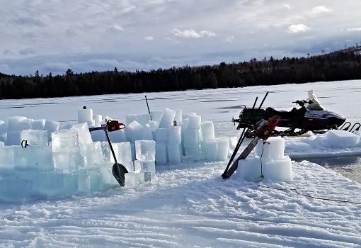 Traditional Maine Ice Cutting